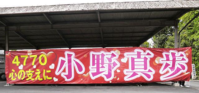 「4770 心の支えに 小野真歩」競艇小野真歩選手応援用横断幕