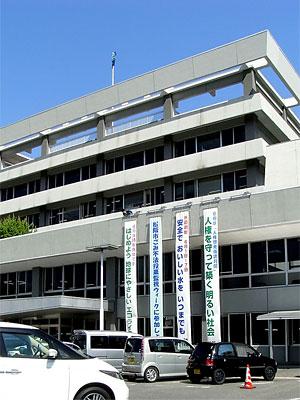 松阪市役所スローガン懸垂幕